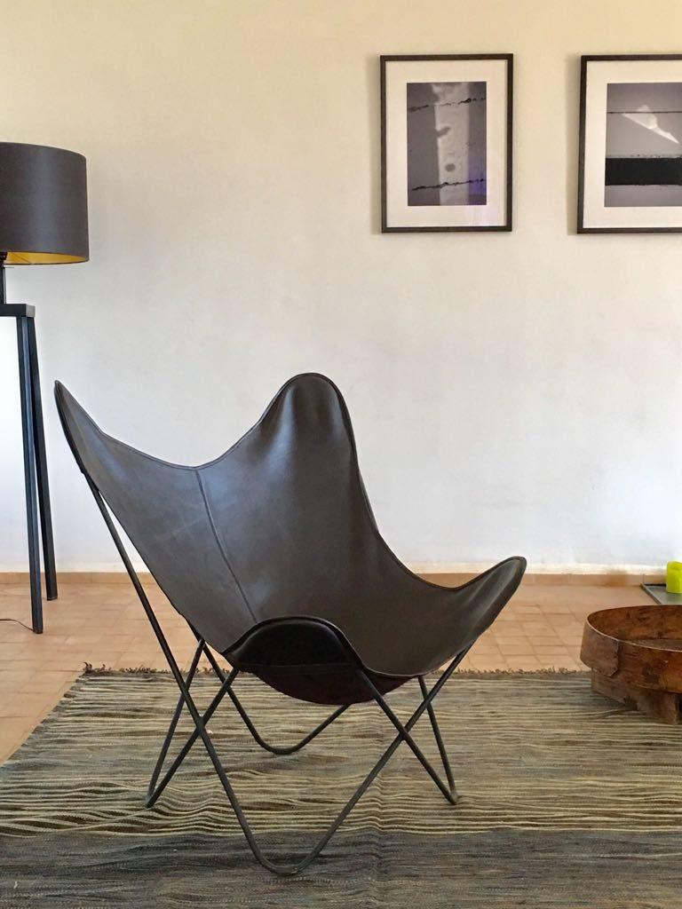 butterfly stoel indoor leder riad soumaya marrakech. Black Bedroom Furniture Sets. Home Design Ideas